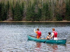 Miguel, Jason, and Nate set out for the middle of the lake