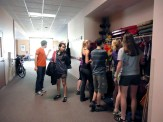 Students choose a PFD that fits them properly