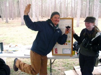 With Zach at the birding festival
