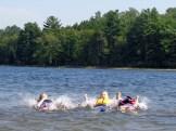 Miranda, Jessica and Heidi making a splash