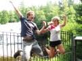 Charlie and Siri jump for joy!