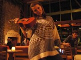 Chloe and her Uke at the open mic