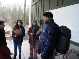 English teacher jeff takes students outside for a photography workshop