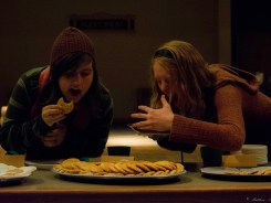 Grad Fellows devour some home made cookies