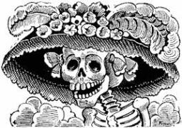 Students had a look at a few prints by José Guadalupe Posada, an influential satirical Mexican artist. Photo: Wikipedia
