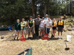 Group on the shore of Loon Lake