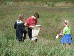 Emma, Kreed and Anneliese hunting