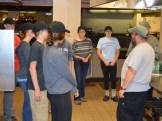 Kitchen crew with Scott