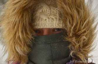 Kayla bundled against the cold