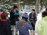 Hannah Stonehouse Hudson preparing students to begin shooting photos