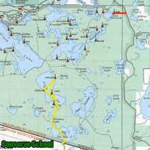 Paths to campsite cleanup sites