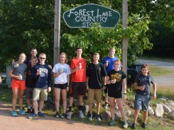 Enjoying ice cream at the Forest Lake Country Store