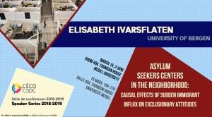 Série de Conférences: Elisabeth Ivarsflaten @ Salle 404 - Thomson House | Montréal | Québec | Canada