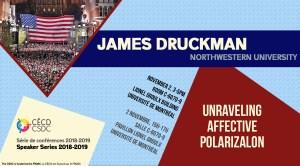 Série de Conférences: James Druckman @ Salle C-6070-9, Pavillon Lionel Groulx - Université de Montréal   Montréal   Québec   Canada