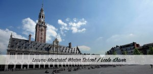 5e École d'hiver Leuven-Montréal @ University of Leuven