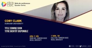 Série de Conférences - Cory Clark @ Salle 404, Thomson House, McGill