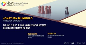 Série de Conférences - Jonathan Mummolo @ Salle 404, Thomson House, McGill University