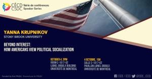 Série de Conférences - Yanna Krupknikov @ Salle C-1017-02, pavillonLionel Groulx, UdeM