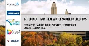 6e École d'hiver Leuven – Montréal sur les élections @ Université de Montréal