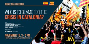 Round-table discussion: Who is to Blame for the Crisis in Catalonia? @ Ballroom, Thomson House, McGill University   Montreal   Quebec   Canada