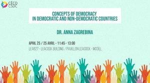 Concepts of democracy in democratic and nondemocratic countries (Pizza Lunch) @ LEA927