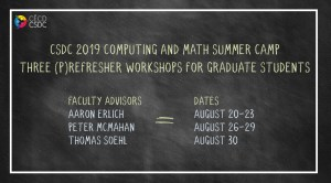 CSDC 2019 Computing and Math Summer Camp