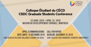 2020 Graduate Students Conference @ Maison du développement durable, Montréal