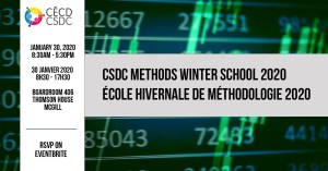 6th Winter School on Methods @ Boardroom 406, Thomson House, McGill