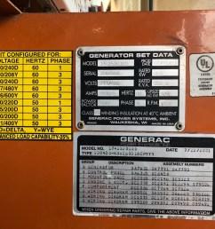northstar wiring diagram devilbiss used generac sd0400 sel generator 294 hrs 400 kw 29950  [ 2016 x 1512 Pixel ]
