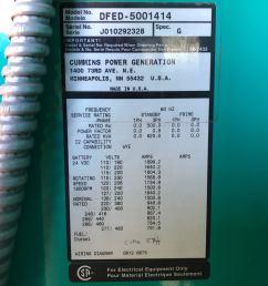 used cummins dfed kta19 g4 diesel generator 341 hrs 500 kw 0 price csdg [ 2016 x 1512 Pixel ]