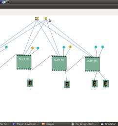 screenshot of design of 4 bit alu  [ 1366 x 768 Pixel ]