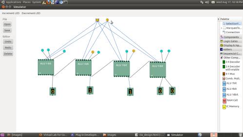 small resolution of screenshot of design of 4 bit alu