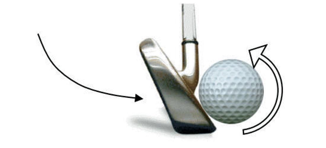 Resultado de imagen para backspin golf shot