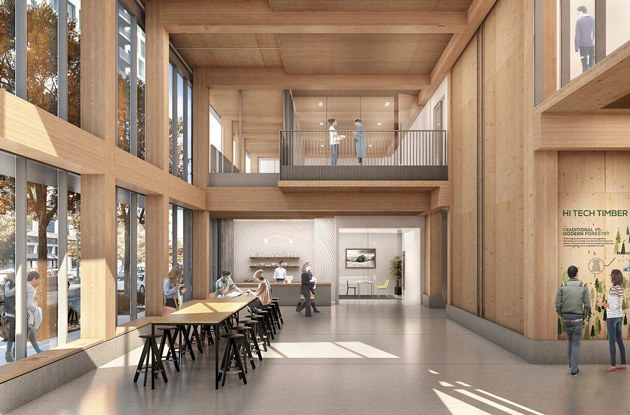 First Mass Timber High Rise Building In U S Cleared For