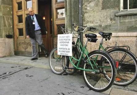 A Magyar Posta jelenleg használt kerékpárjai