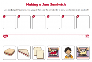 TASK 6: Algorithms and programming (Option 2 – Making a jam sandwich)