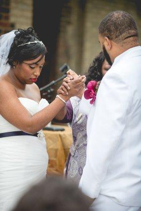 Sherea and Brandon Wedding Ceremony at Goodale Park, Columbus Ohio.