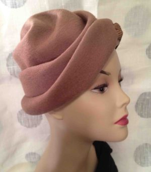Vintage wool shaped hat - reminds me of a Shar-pei dog.