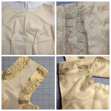 Images showing construction details of dress