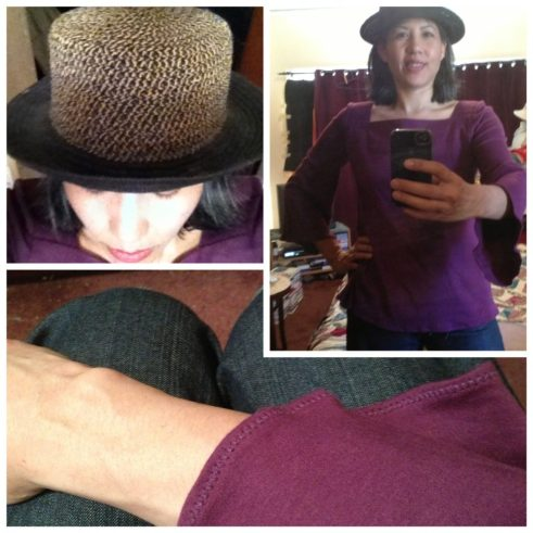 Day 11: Plum knit top