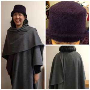 Day 15 - Wool cape made from a 1980s Vogue pattern I got for 25 cents