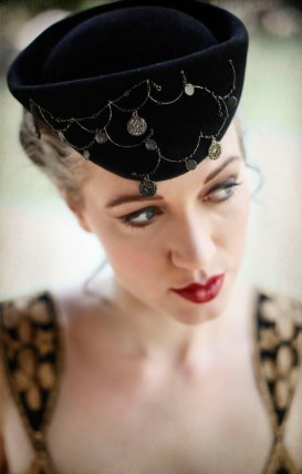 Hat by Elwyn Crawford of O'Lover Hats (photo by Lauren Warner MUA)