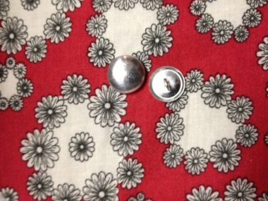 My fabric and the covered button pieces