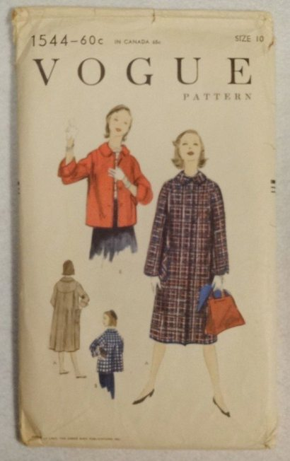 Vogue 1955 coat pattern