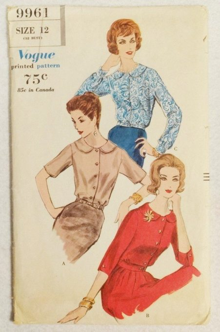Vogue 1960 blouse pattern