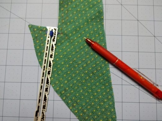 Mark embroidery lines on collar