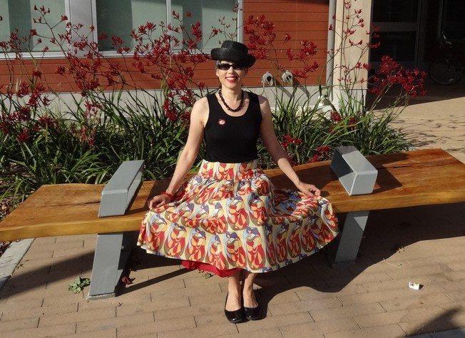 Cotton voile skirt - photo by Kofi - csews.com