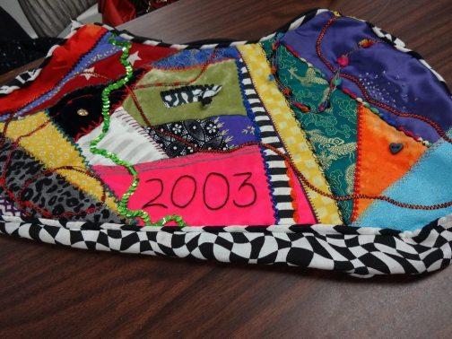 Erin's embellished purse - Bay Area Sewists meetup - csews.com