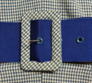 Fabric-covered belt buckle