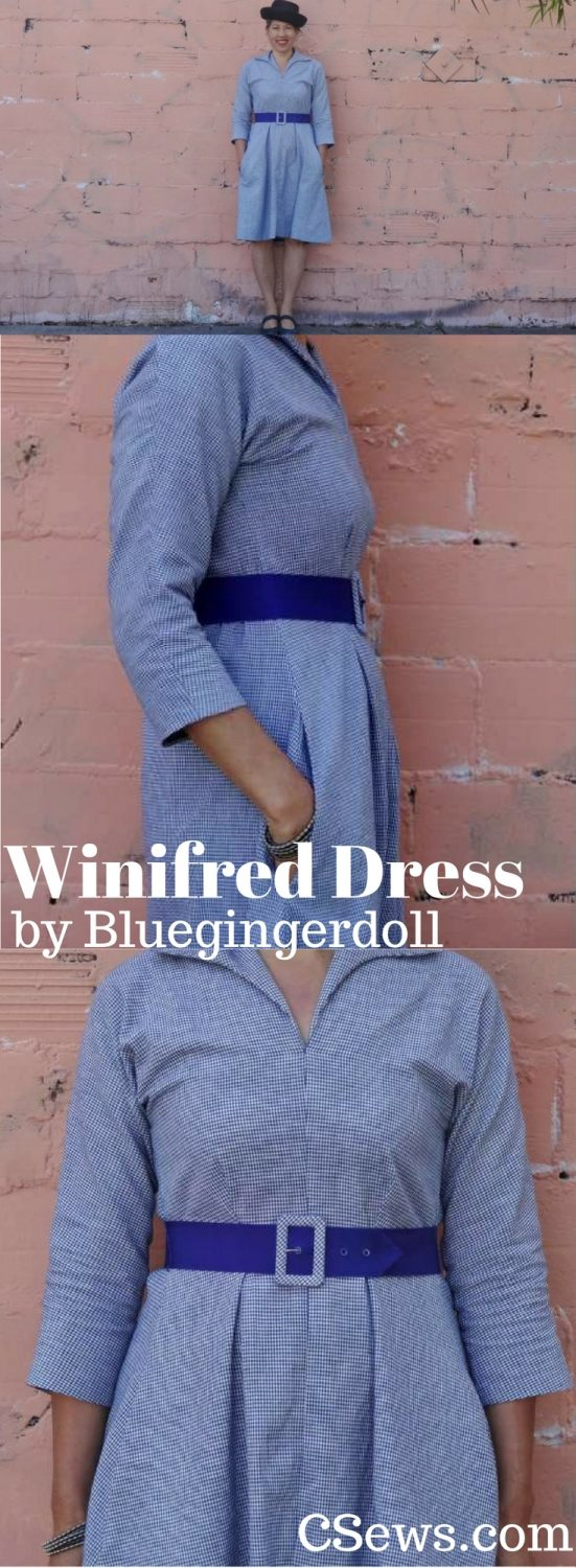 Winifred Dress by Bluegingerdoll patterns - a casual dress with front darts and elastic at back waist
